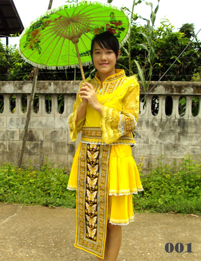 Yellow Hmong dress